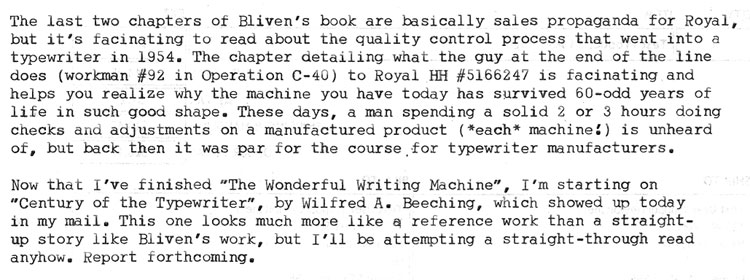 2011 08 18 3 Review: The Wonderful Writing Machine and the Herd, semi collected