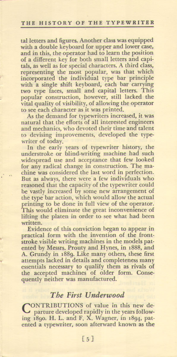 History of the Typewriter05 The History of the Typewriter (Underwood Corp, 1950)