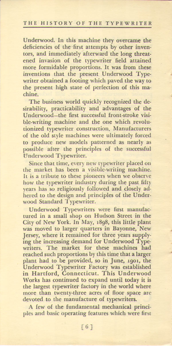 History of the Typewriter06 The History of the Typewriter (Underwood Corp, 1950)
