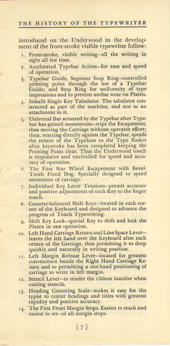 History of the Typewriter07 The History of the Typewriter (Underwood Corp, 1950)