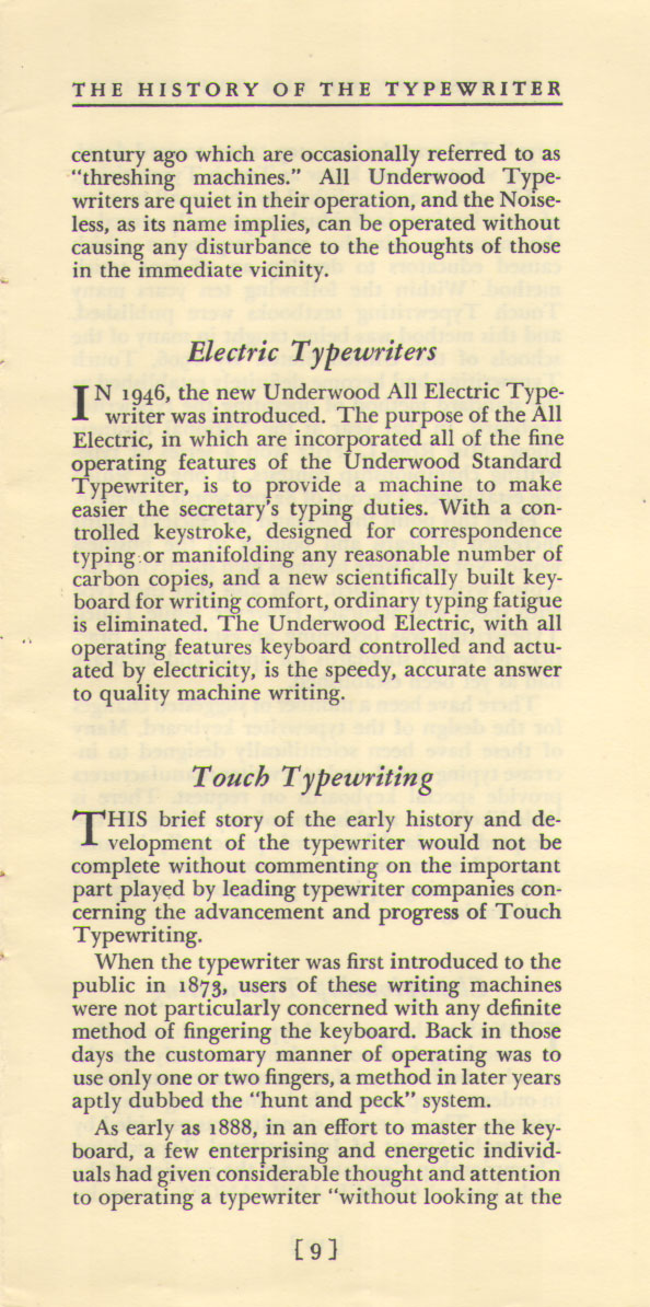 History of the Typewriter09 The History of the Typewriter (Underwood Corp, 1950)