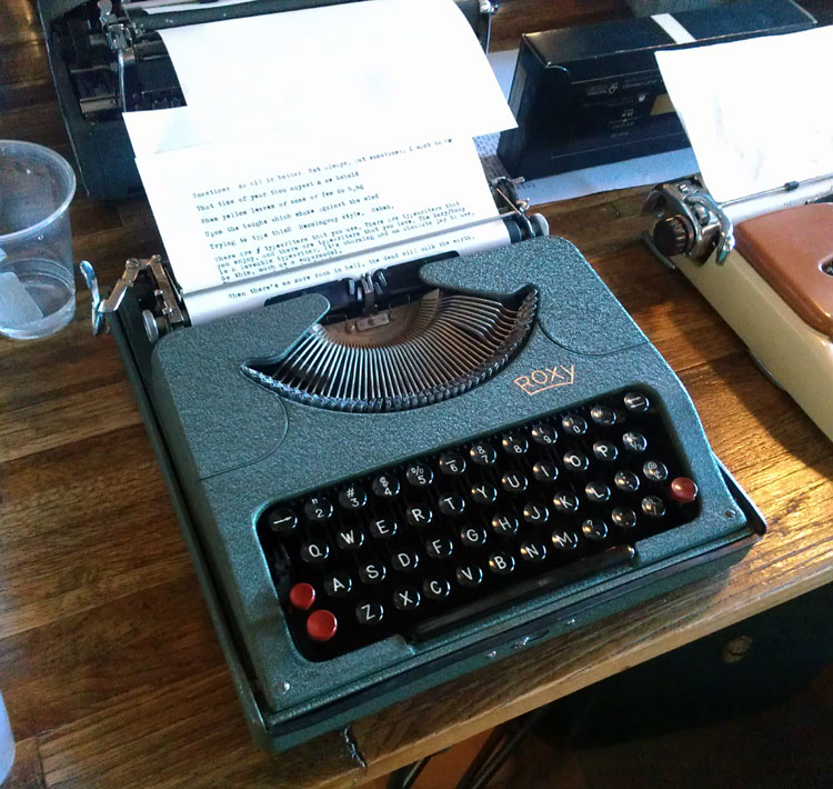 IMAG0273 Report: Phoenix Typewriter Round Up / Type In 3