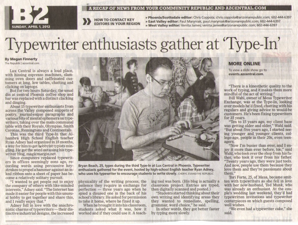 azrepublic type in 3 1024x773 Report: Phoenix Typewriter Round Up / Type In 3