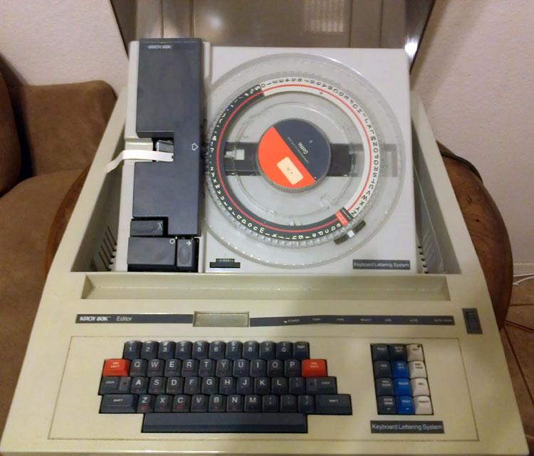 Kroy 80k Lettering System And A Dayton Portable Typewriter
