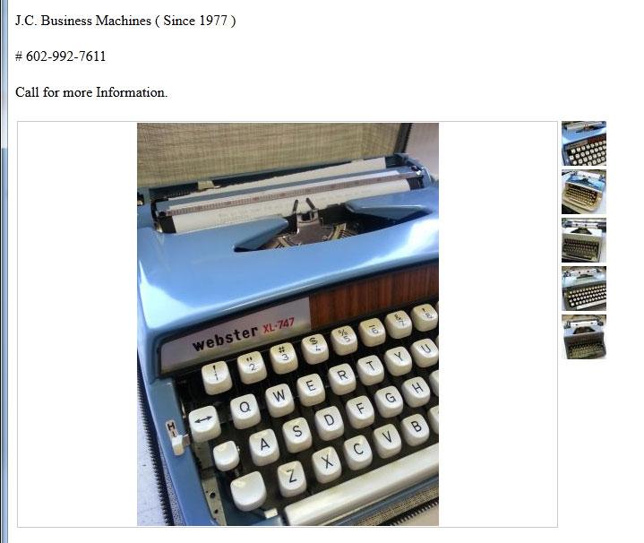 brother electronic typewriter service center