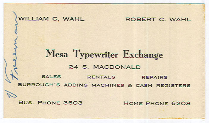 Shipman ward dealers line book 1954 part 1 price lists and trade bonus ephemera mte business card from mid 1950s love the 4 digit phone numbers d reheart Gallery