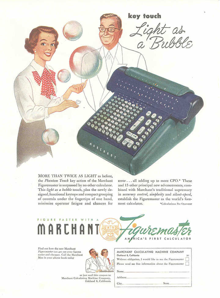 a marfig Marchant Figuremaster adding machine
