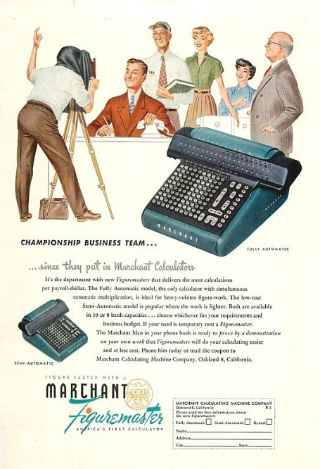 marchant calcad 1 Marchant Figuremaster adding machine