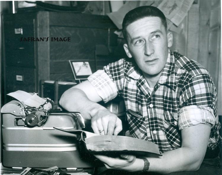 Mickey Spillane and his Smith-Corona