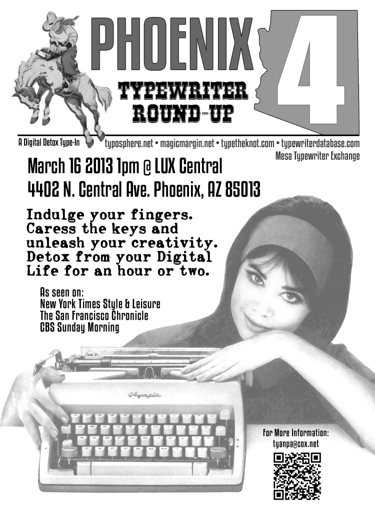 4th typein fly 21 The 4th Phoenix Typewriter Round Up & Type In