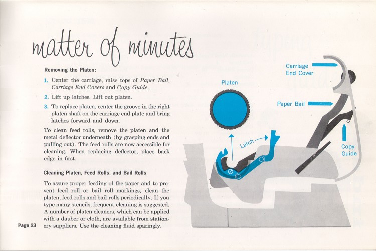 IBM Executive man page 23 750x501 IBM Executive Typewriter Operators Manual   1950s