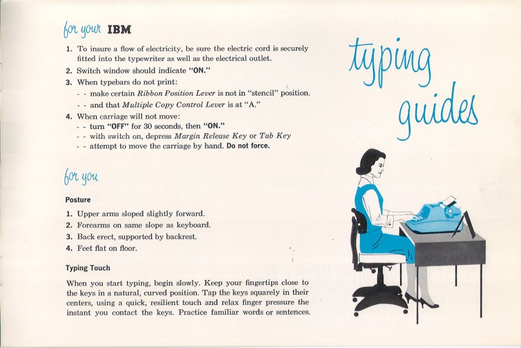 IBM Executive man page 25 750x502 IBM Executive Typewriter Operators Manual   1950s