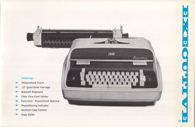 IBM Executive man page 3 750x492 IBM Executive Typewriter Operators Manual   1950s