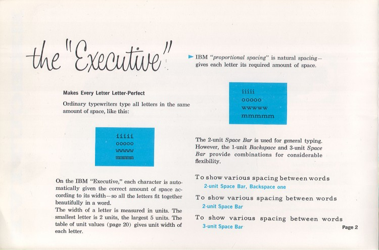 IBM Executive man page 4 750x495 IBM Executive Typewriter Operators Manual   1950s