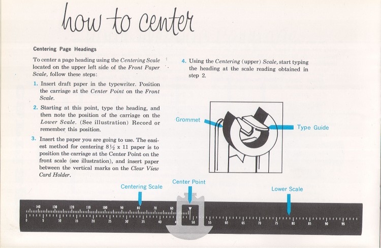 IBM Executive man page 8 750x490 IBM Executive Typewriter Operators Manual   1950s
