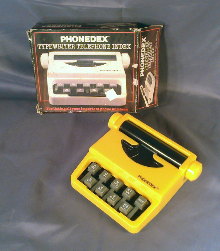 Recent posts in the Typosphere celebrating phone number indexers made me weak for this $2 find. A Typewriter Telephone Indexer!