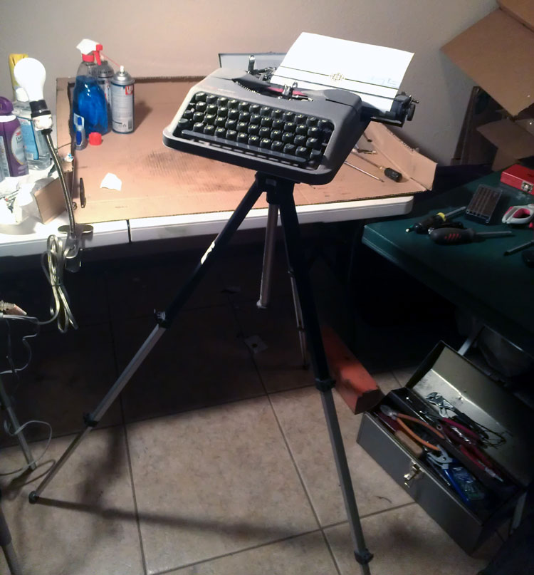 IMAG0809 Tripod Mounted Empire Aristocrat Field Typewriter