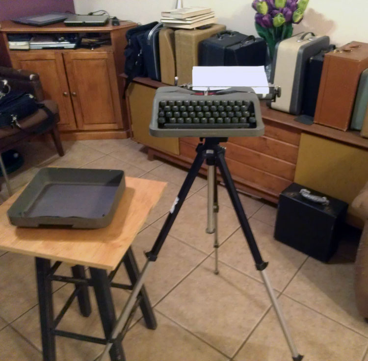 IMAG0811 Tripod Mounted Empire Aristocrat Field Typewriter