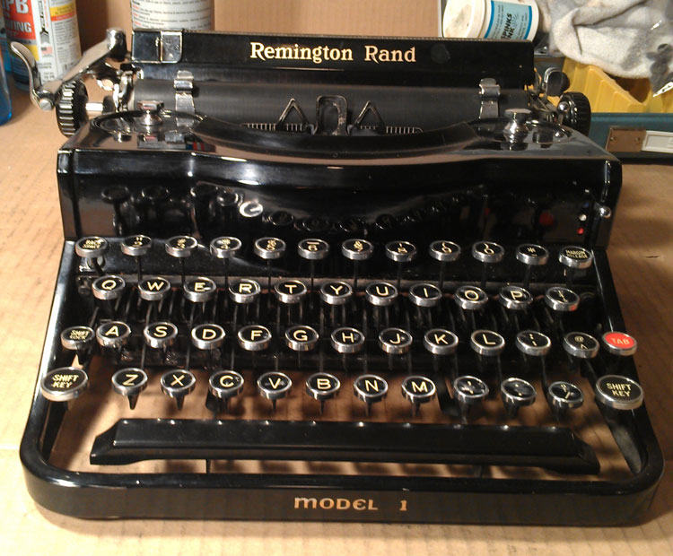 Kipling, 1937 Remington-Rand Model 1 Portable