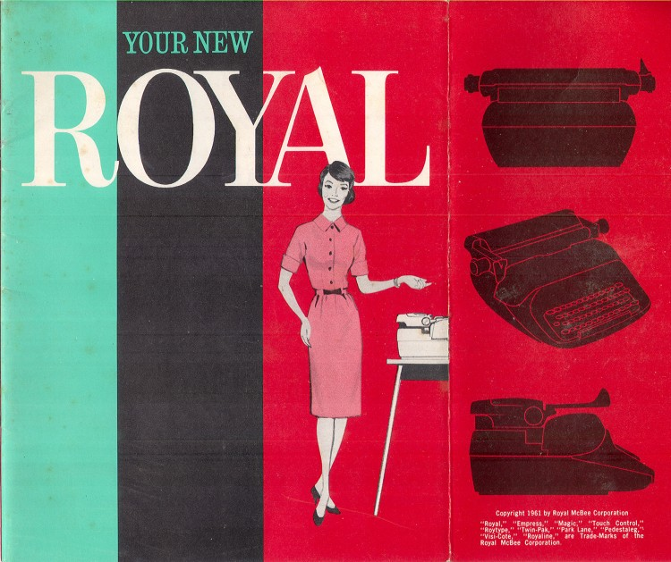 royal empress 1 750x629 Royal Empress Typewriter Owners Manual, 1961