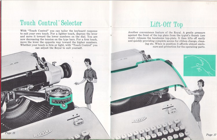 royal empress 11 750x486 Royal Empress Typewriter Owners Manual, 1961