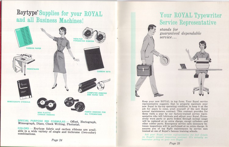 royal empress 15 750x484 Royal Empress Typewriter Owners Manual, 1961