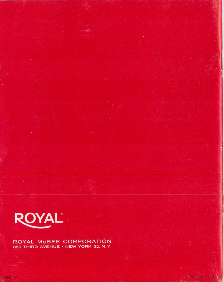 royal empress 16 750x945 Royal Empress Typewriter Owners Manual, 1961