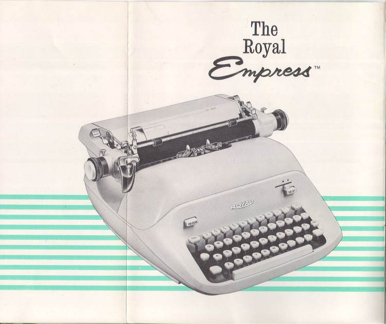 royal empress 2 750x631 Royal Empress Typewriter Owners Manual, 1961