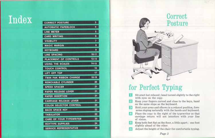 royal empress 4 750x482 Royal Empress Typewriter Owners Manual, 1961