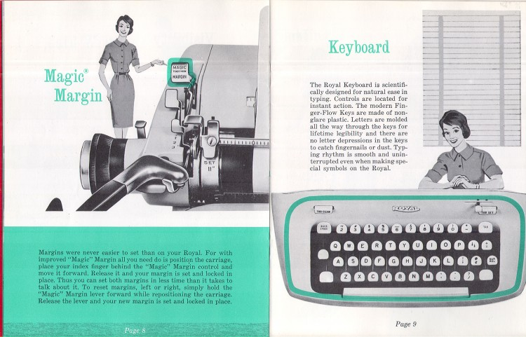 royal empress 7 750x481 Royal Empress Typewriter Owners Manual, 1961