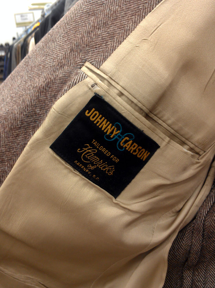 Peter was tempted by this Johnny Carson brand jacket