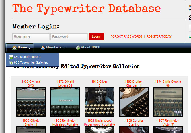 Typewriter Database continues to grow, slowly but steadily! (: