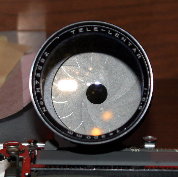 The Tele-Lentar 300mm has, what looks like *15* aperture blades, the bokeh should be really amazing...