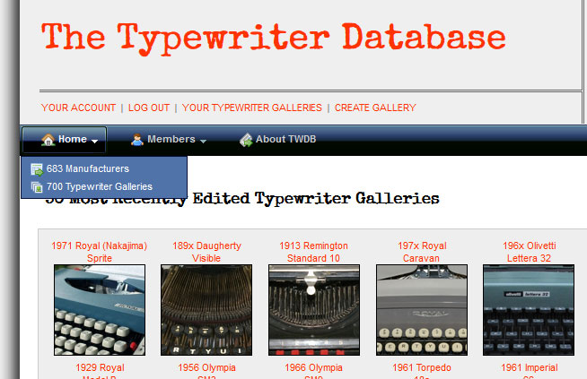 The Sprite got entered into the Typewriter Database as the 700th typewriter gallery. We're at 702 now - next goal: 800!