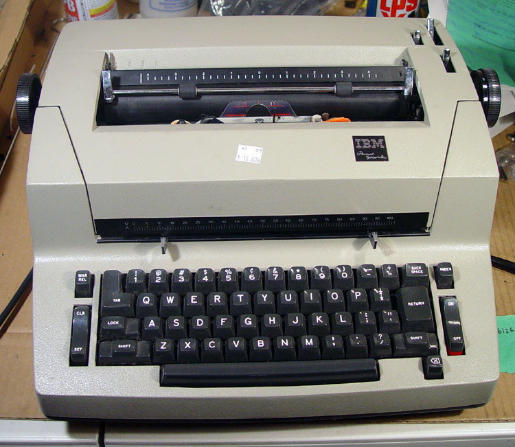 "The IBM ""Personal Typewriter"" is basically a Single-Pitch Correcting Selectric II mechanically, and takes the 88-Character type elements used in SI's and SII's, but uses Selectric III ""Bicycle"" carbon ribbons - all stuffed into the size format of an 11"" Selectric I. They were made *after* IBM discontinued the Selectric II (IE: produced concurrently with the SIII), and are fairly rare. If they only had dual-pitch and the SI's curvy scalloped body, it would be the PERFECT Selectric."