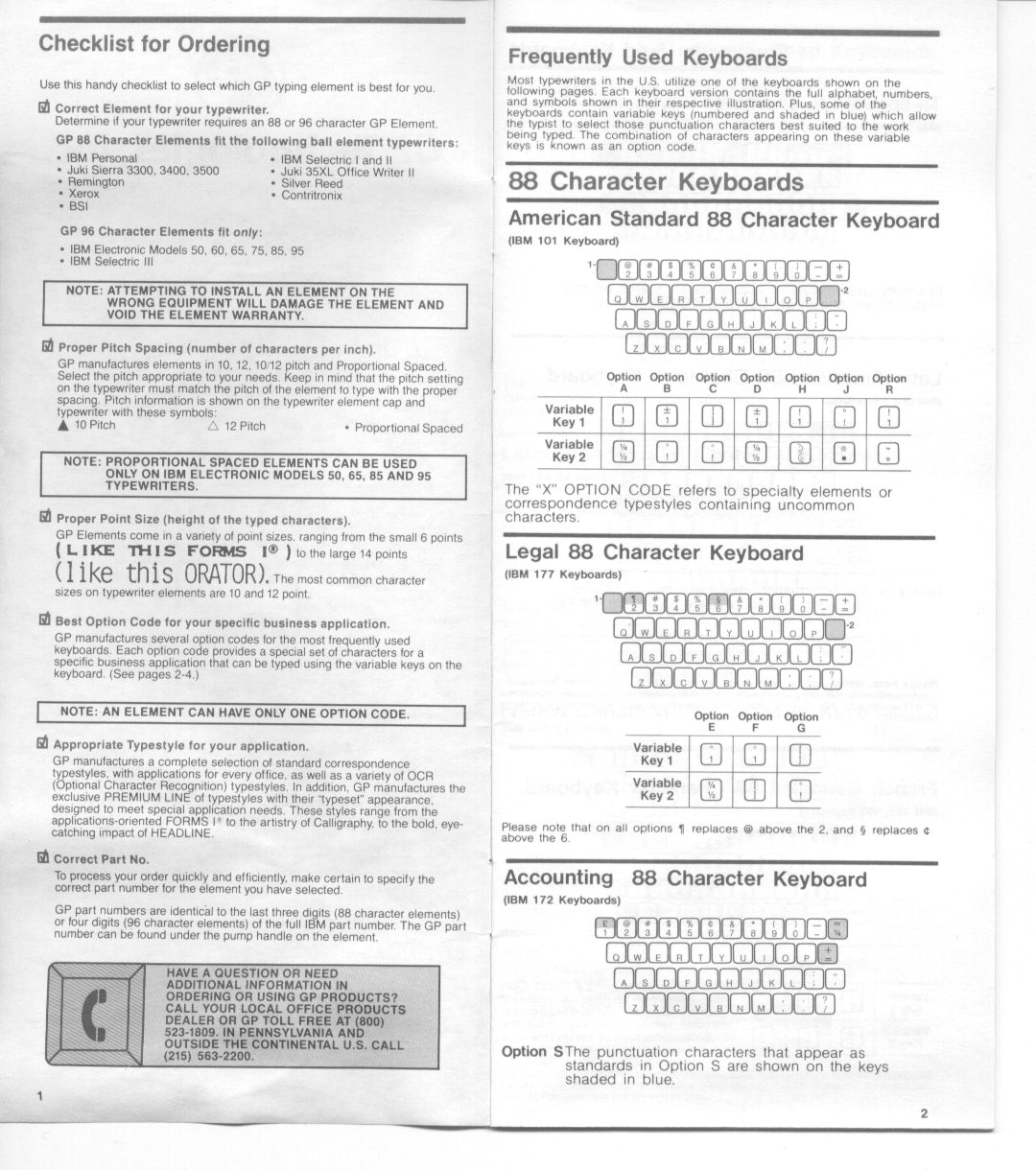 GP IBM Selectric Typeball Catalog – Font Styles | To Type