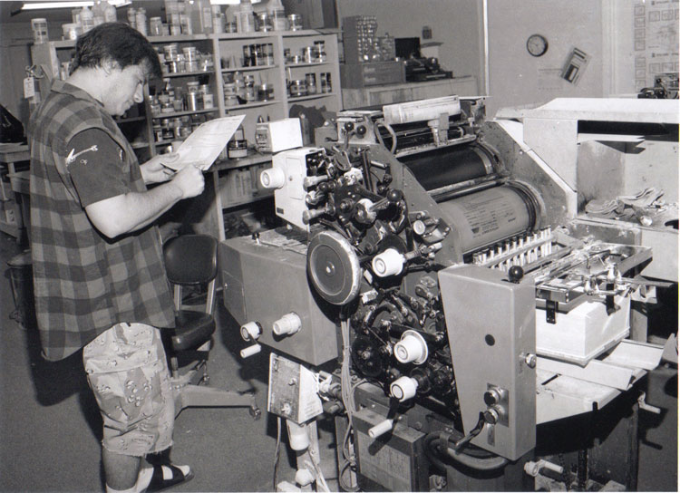 Me as a young printer. Still have that press.