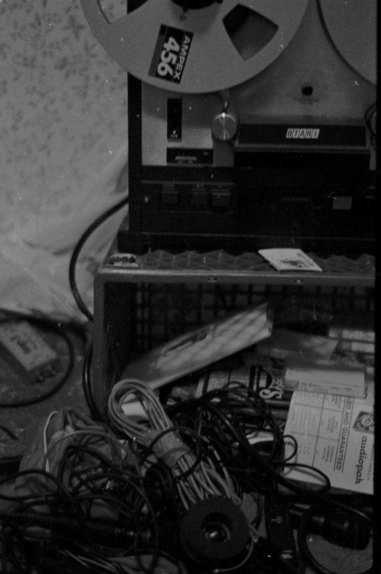 """Would have been recording tracks for """"Monstor"""" on the Otari 8-Track. Still have the master tapes, but nothing to play them on. :P"""