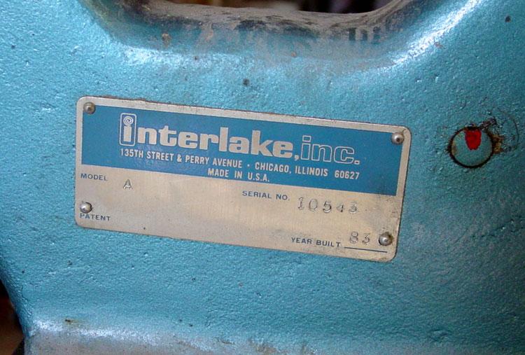 Interlake Model A Stapler, built in 1983