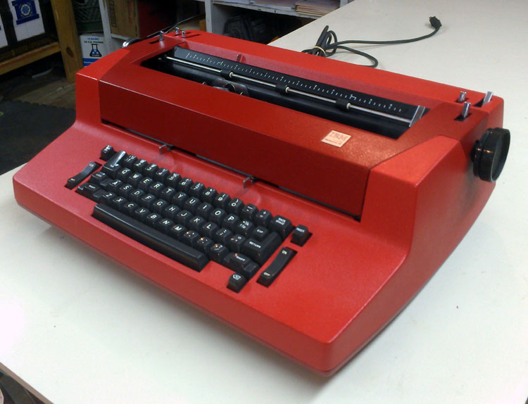 """To This. """"The Red Ryder"""" 1979 IBM Correcting Selectric II"""