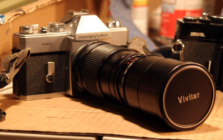 1960's Mamiya-Sekor 1000 TL. M42 lens mount.