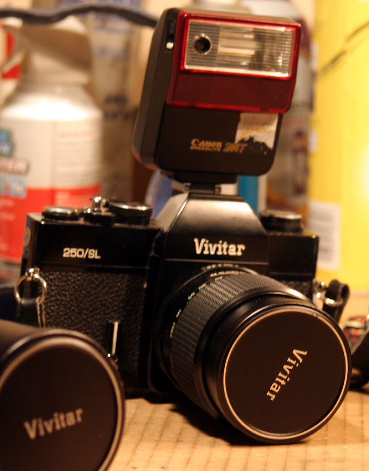 1976 Vivitar 250/SL, M42 lens mount.