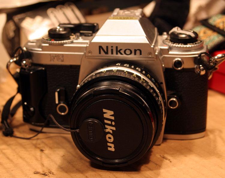 1983 Nikon FG, Nikon F-AI lens mount.