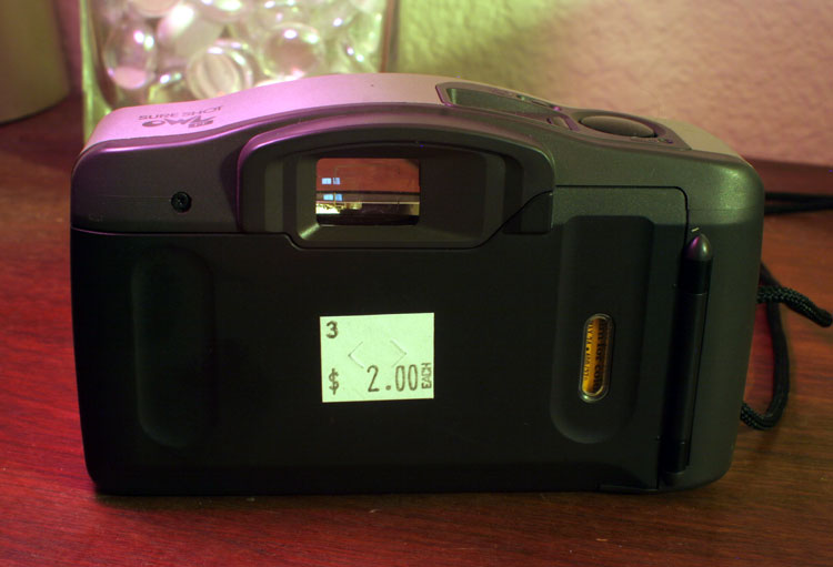 $2, with a good set of batteries and 2 frames left on the 24-exposure roll.