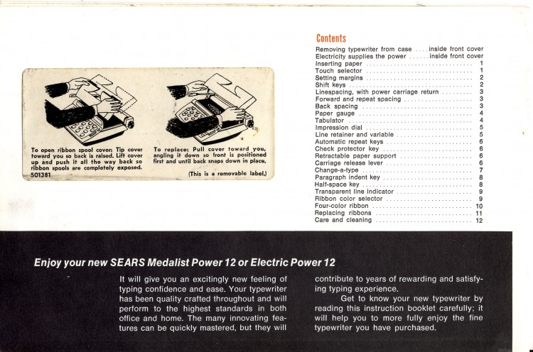 Untitled 2 750x496 Sears Medalist and Electric Power 12   Owners Manual   1968