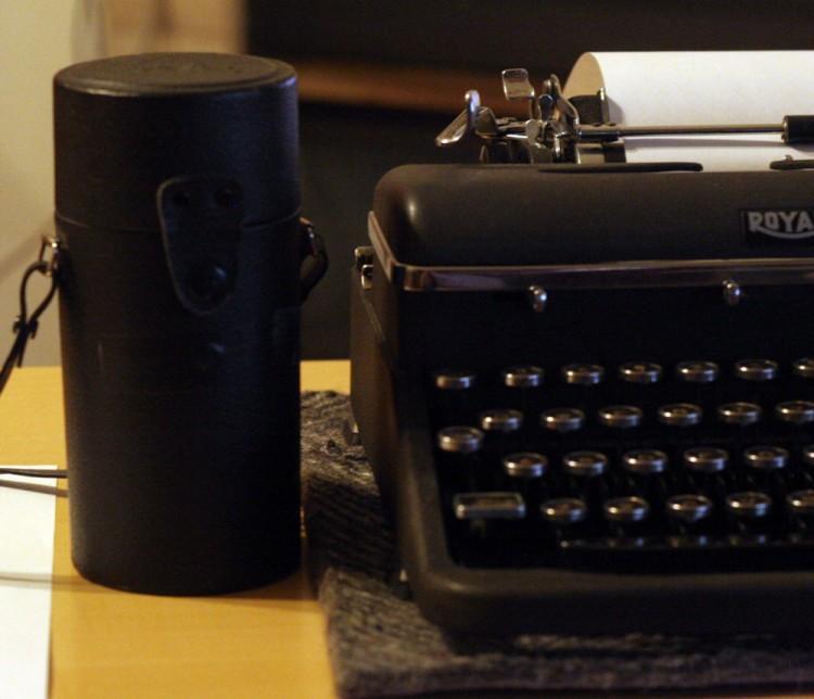 "Weapons Of Choice: ""Hemingway"" 1940 Royal Aristocrat & Hoya lens case converted to pinhole camera"