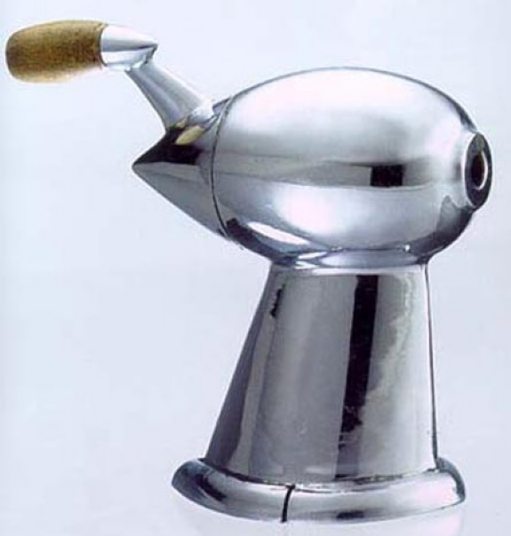 The Anscoflex was designed by Raymond Loewy, who also designed this nifty pencil sharpner, the Coke Bottle, the Zippo Lighter, the Studebaker Avanti (below) and loads of other things.
