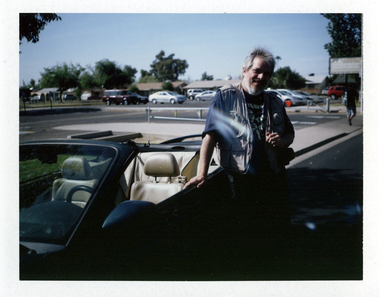 Another of Erik's Polaroids. There seems to be a ghost that follows me around, that only the Polaroid process can see. (or maybe a light leak in the bellows?)