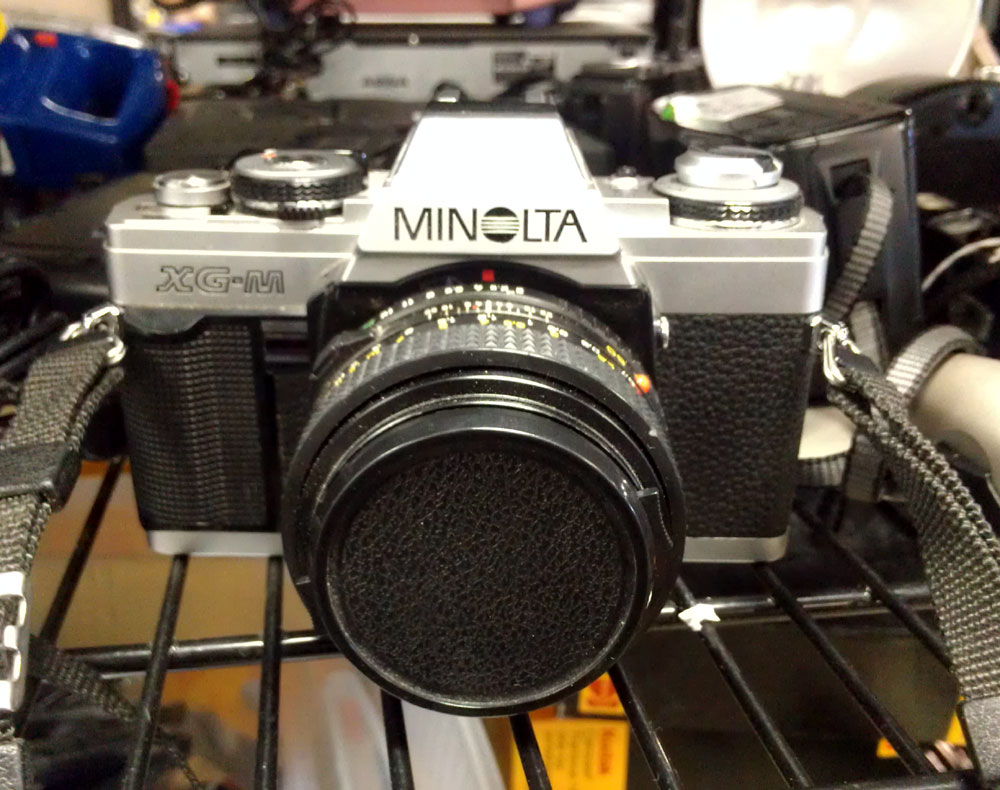 Minolta XG-M seen at North Goodwill today. I alerted Key Snap about it, but he's more into large format stuff now.