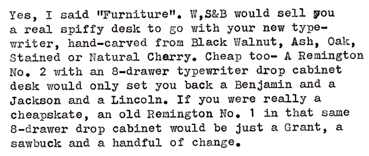 2014 07 02 c Wyckoff, Seamans & Benedict pull out the stops to sell you a Remington. The Year? 1884